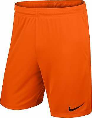 Shorts Football/ Soccer Nike Ii Park Mens S- Xl Orange Geniune Nike Product