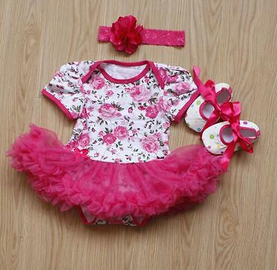 "Fashion Lovely Flower Pattern Clothes Dress Suitable for 20-22"" Reborn Baby Doll"