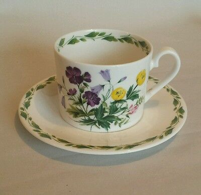 Queens China R.H.S. Floral Cup & Saucer