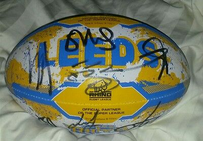 leeds rhinos signed rugby ball