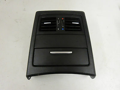 Black Rear Centre Console Air Vents and Draw Compartment BMW E90 3 Series