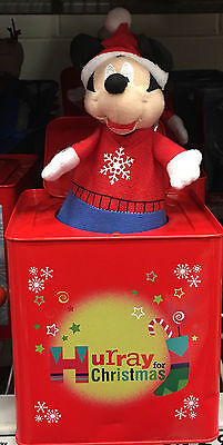 Disney Mickey-In-The-Box Mickey Jack-In-The-Box Musical Christmas Collectible