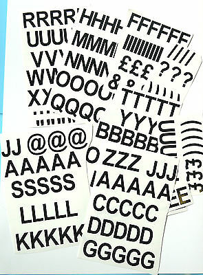 """1"""" High Sticky Vinyl Plastic Letters,Crafts/Signs/Filing/Menus + 50 FREE Numbers"""