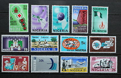 NIGERIA: selection of 13 nice UMM commemoratives, 1965-1970 (NIG 15)
