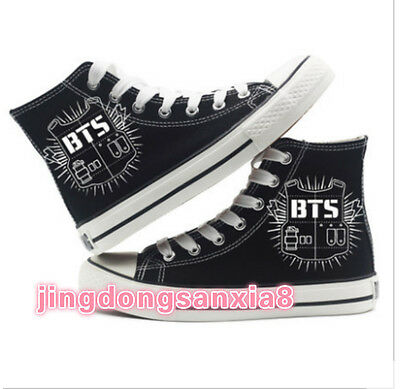 Hot Sell! Anime BTS Cosplay Canvas Sneakers Shoes Black