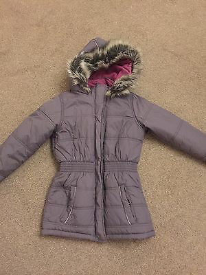Grey Winter Coat Aged 9-10 Years *excellent*