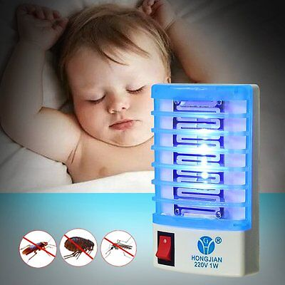 10x EU LED Socket Electric Mosquito Fly Bug Insect Trap Night Lamp Killer Zapper