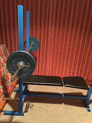 Gym Bench Press & Weights Australian Made Stainless Steel