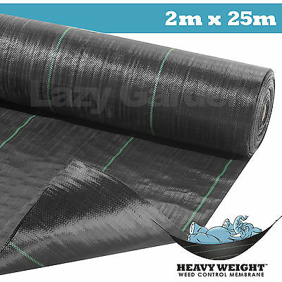 2m x 25m weed control fabric garden landscape ground cover membrane driveway
