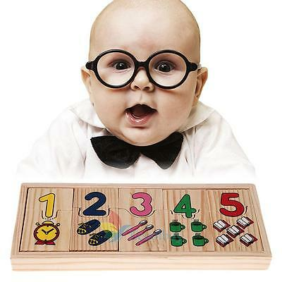Kids Child Wooden Numbers Mathematics Early Learning Counting Educational Toy #