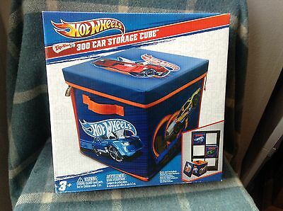 Hot Wheels 300 Car Storage Cube - Opens To Race Track. Brand New And Unopened
