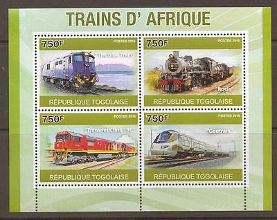 Togo 2010 African Trains S/sheet Mnh