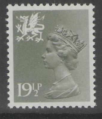 WALES SGW51 1982 19½p OLIVE-GREY MNH