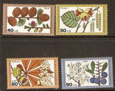 Germany Sgb582/5 1979 Relief Fund Woodland Flowers Mnh