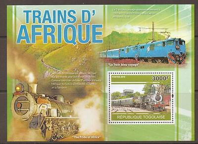 Togo 2010 African Trains M/sheet Mnh