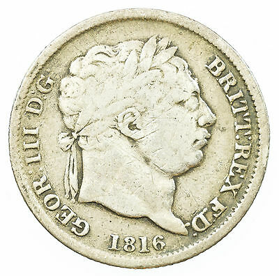 Great Britain, George Iii Shilling, Silver, 1816