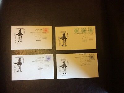 Norwich 1971 First Day Of Issue Postal Strike Stamps Very Nice