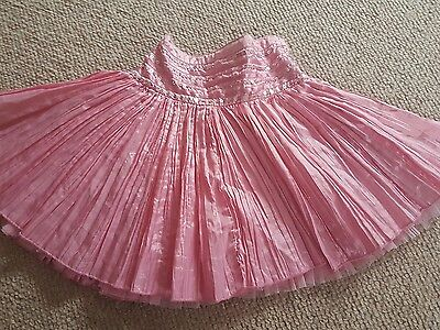 girls sequin pink party skirt size 4-5 years old  vgc