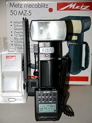 Metz 50 MZ 5 flash unit with Canon 3102 M3 in excellent  condition