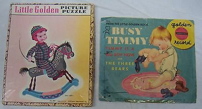 """Vintage """"busy Timmy"""" Golden Record & Puzzle - Eloise Wilkin Illustrator"""