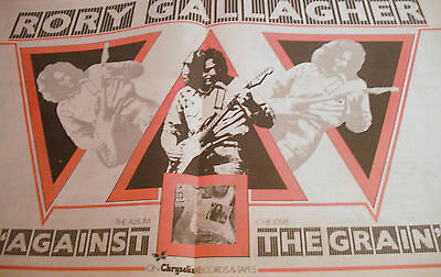 """Rory Gallagher """"against The Grain"""" Double Page Advert 1975 Genuine A2 Size"""