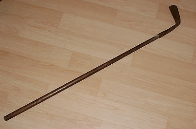 Vintage Iron Golf Putter / Putting Club with Wooden Handle