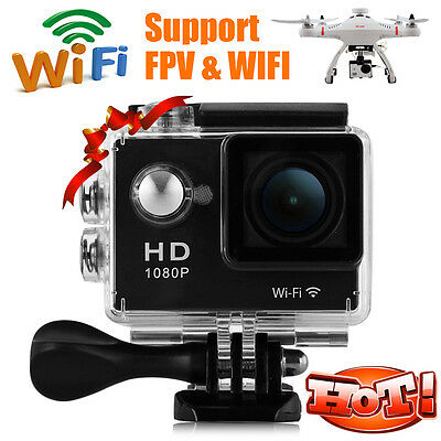 UK STOCK 2.0'' WiFi 12MP HD1080P Bikes Helmet Action Camera Sport DV Camcorder