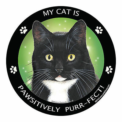 My Black and White Tuxedo Cat Is My Best Friend Dog Car Magnet