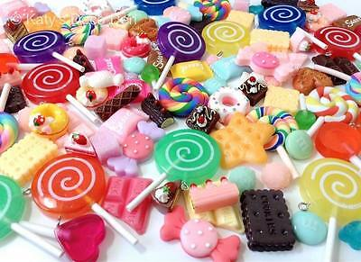 Mixed Flatback Resin / Clay Fake Sweet Candy Chocolate Cabochons Decoden