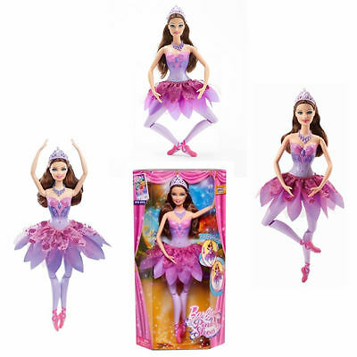 BRAND NEW Barbie in the Pink Shoes Ballerina Doll Dancing Actions Purple Odette
