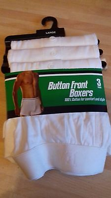 brand new mens boxer shorts 3 pack size large