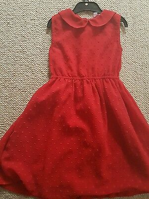 girls party Christmas red dress 6-7 worn once