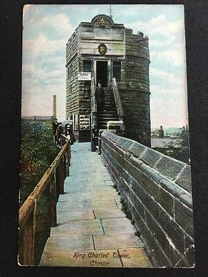 Vintage Postcard - Cheshire #14 - RP King Charles Tower Chester - 1907