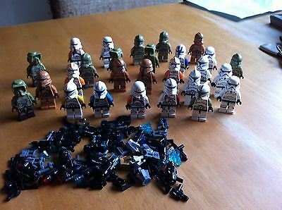 27 Lego Star Wars Stormtrooper Etc Lot Ideal Xmas Stocking Filler + Accessories