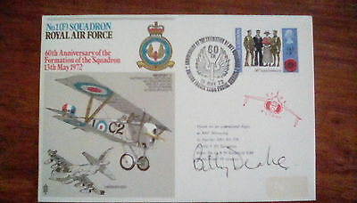 battle of britain signed cover by Billy Drake