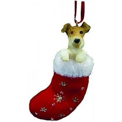 Wire Fox Terrier Santa's Little Pals Dog Christmas Ornament