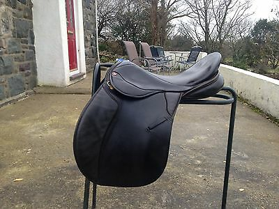 """17"""" Wide Fitting Black English Leather G/P Saddle by Kings saddlery Walsall"""