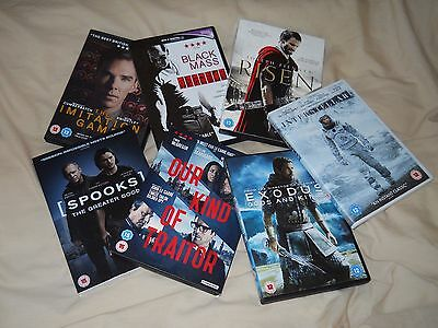 Job Lot Of 7 DVD's (Region 2) All In Mint Condition.