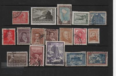 Argentina stamp selection