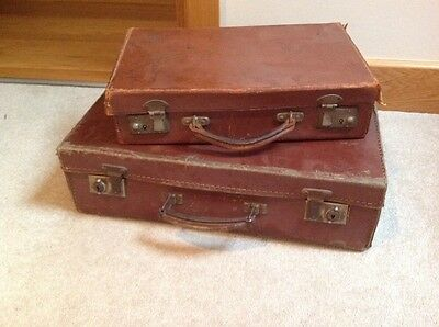 Vintage Small Suitcases Set Of Two