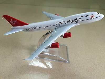 Virgin Atlantic B-747 Passenger Airplane Plane Metal Diecast Model Collecton C