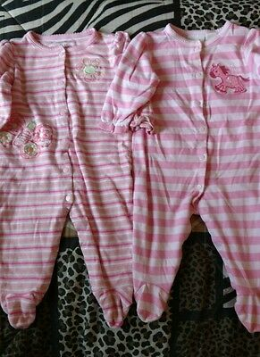 Infant Girls Size 6-9M Lot of 2 Sleepers