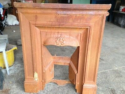 Reclaimed Cast iron Victorian fireplace