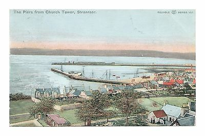 The Piers From Church Tower Stranraer Wigtownshire Dumfries Scotland Posted 1904