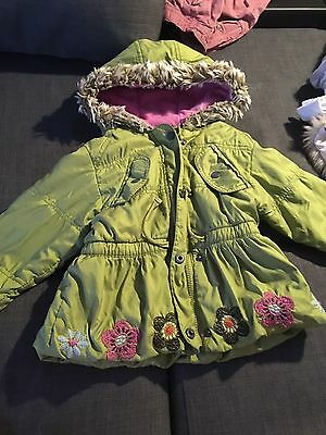 Next Green Baby Girl Jacket 2-3 Years Old