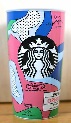NEW!! SOLD OUT 2016 Starbucks OREGON Travel Tumbler Ceramic Cup MUG MISPRINT