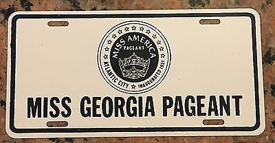 Scarce 1960 NOS Miss Georgia Pageant Georgia License Plate
