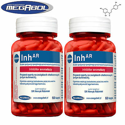 InhAR 60-420Caps Testosterone Hormone Booster Male Pro Bodybuilding Low Estrogen