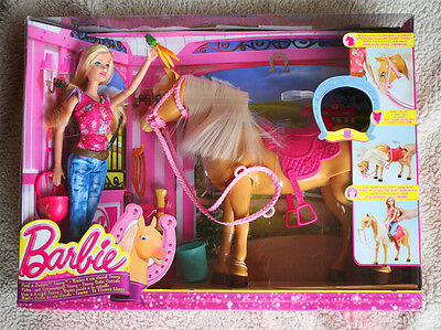 Barbie: Feed & Cuddle Tawny. Nuzzles, Bows, Barbie Rides! Brand New In Box!