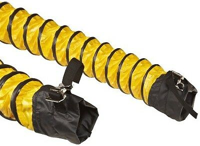 Flexaust Springflex FSP-5 Polyester Duct Hose, Yellow, Enclosed Belted Cuffs,